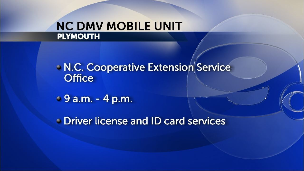 NC DMV mobile unit making 2nd stop in Plymouth