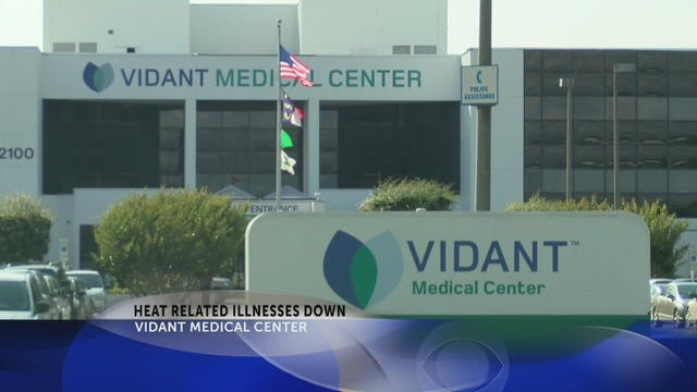 Vidant: Heat illness numbers down from same time last year