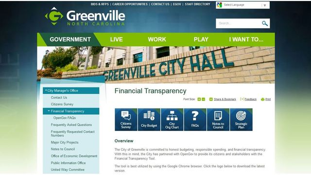 greenville officials build on trust announce new online tool for accessing citys budget