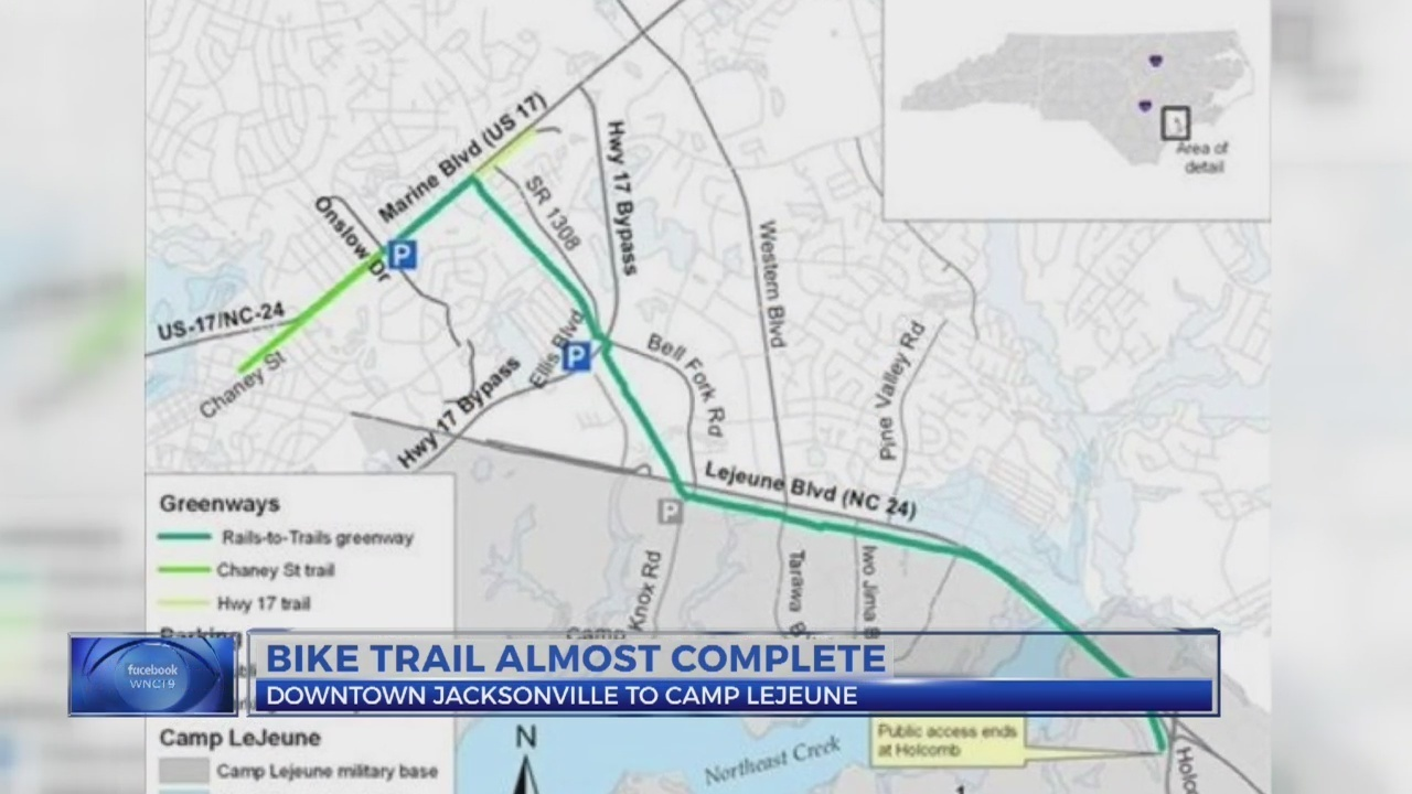 New bike trail to connect Jacksonville, Camp Lejeune Camp Lejeune Map Building Numbers on