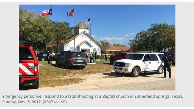 At least 26 dead, dozens injured, in Texas church shooting