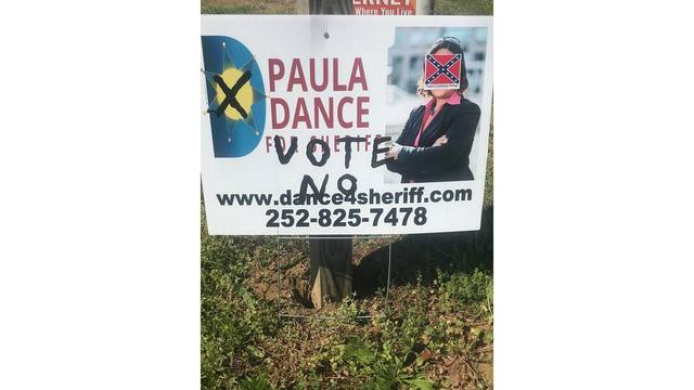Investigation underway after Pitt Co. Sheriff candidate's sign is vandalized