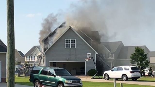 UPDATE: Winterville home fire contained, officials say heat played a factor