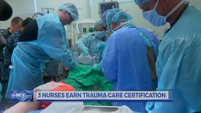 Trio of nurses earn trauma certifications at Naval Medical Center ...
