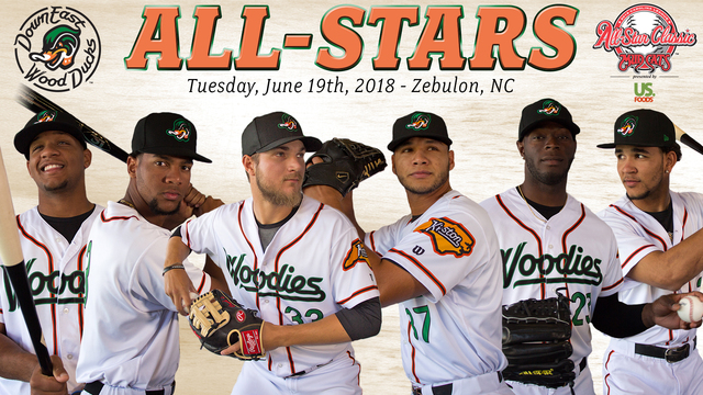 Six Wood Ducks named to 2018 Carolina League All-Star Team for Southern Division