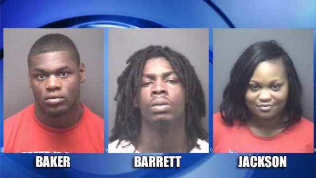 3 arrested after elderly couple robbed in car at gunpoint