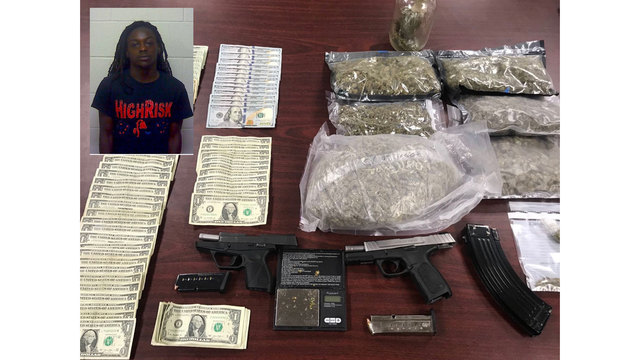 Man arrested on drug, firearm charges in New Bern