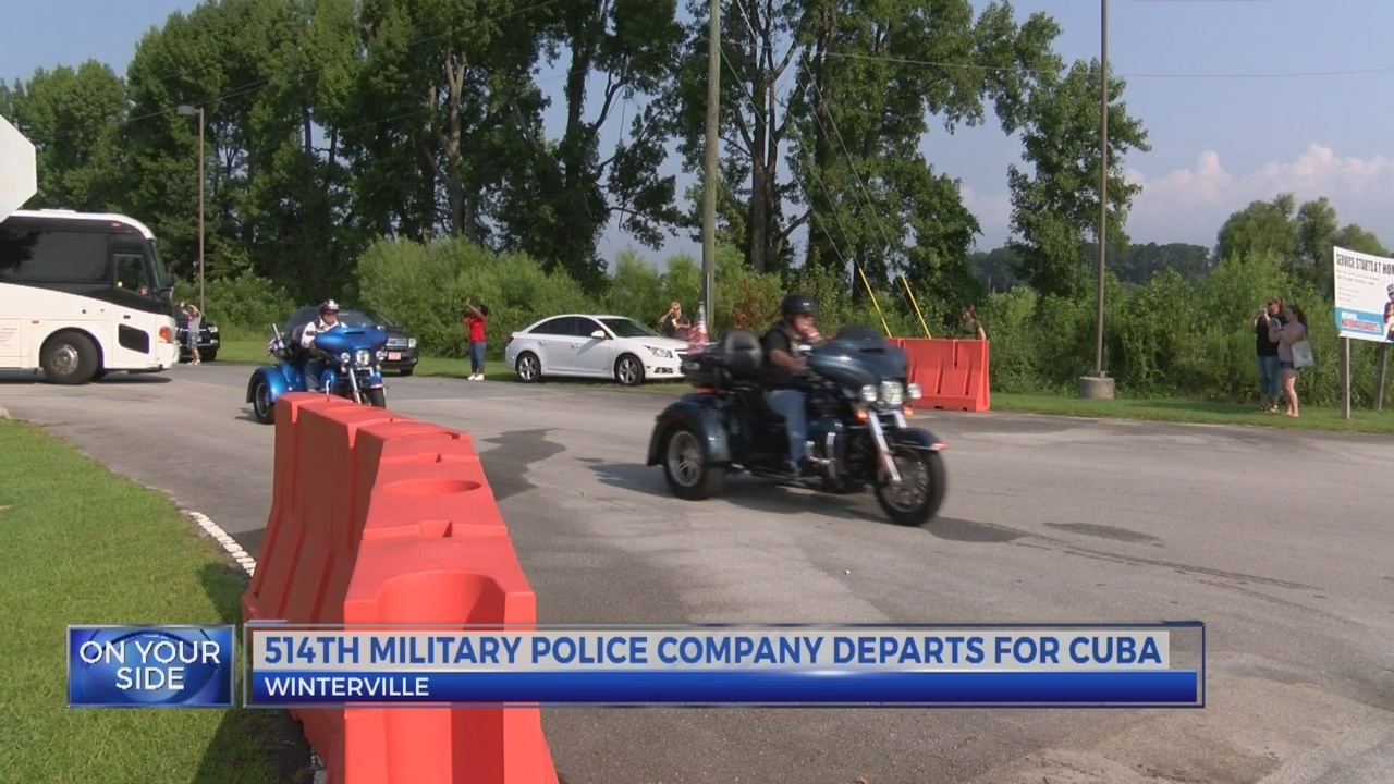 514th Military Police Company deploy for Cuba