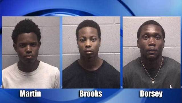 Jacksonville police charge 3 men with looting store during Florence