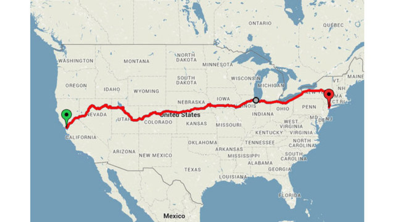 Amtrak Nc Map.Sf To Nyc How To See America S Beautiful Sights By Train For Around