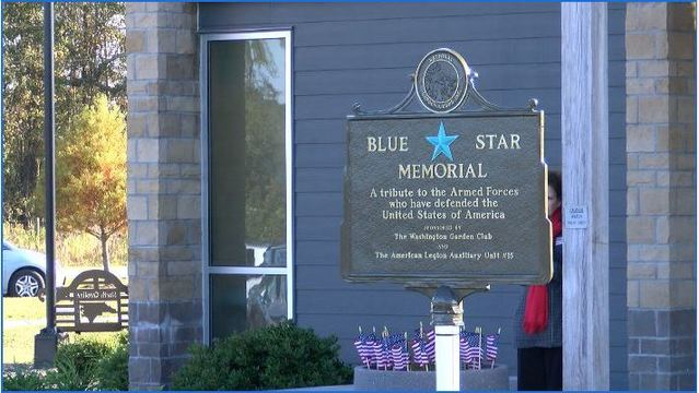 Blue Star marker dedicated in Beaufort County