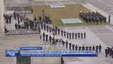 Bush saluted with praise, humor, cannons at capital farewell