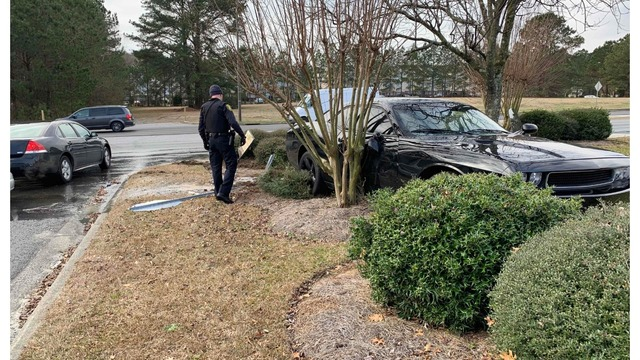 Car chase after robbery ends in crash near J.H. Rose High