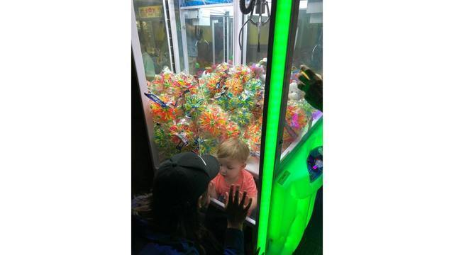 2-year-old trapped in 'claw' machine rescued by firefighters