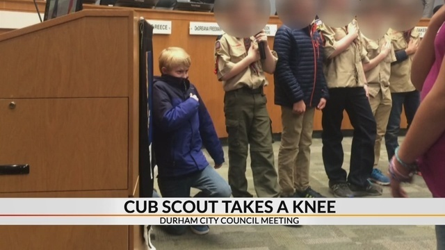 NC 10-year-old kneels during Pledge of Allegiance