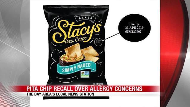 Frito-Lay recalls Stacy's Simply Naked Pita Chips over undeclared milk