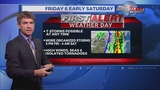 """First Alert Weather Day"" in effect Fri/early Sat: Severe storms likely"