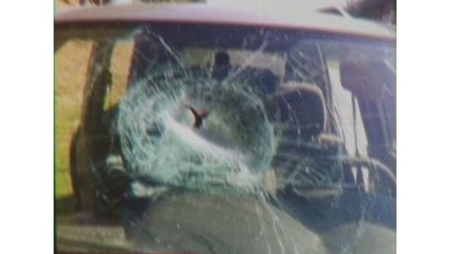 Woman says pipe flew through her windshield while driving on I-40 in
