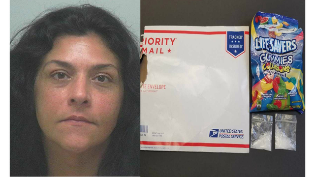 Woman charged after receiving meth hidden in Life Savers bag in mail