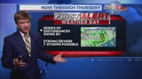 """""""First Alert Weather Day"""": Isolated strong/severe storms possible"""